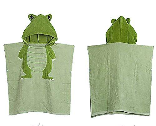 Kids Hooded Beach Bath Towel Animal Poncho / Boys and Girls (crocodile)