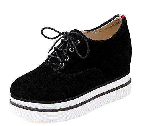La Sra primavera y otoño zapatos mollete zapatos de cordones de los zapatos de fondo grueso dentro de los zapatos del elevador Sra. , US5.5 / EU35 / UK3.5 / CN35