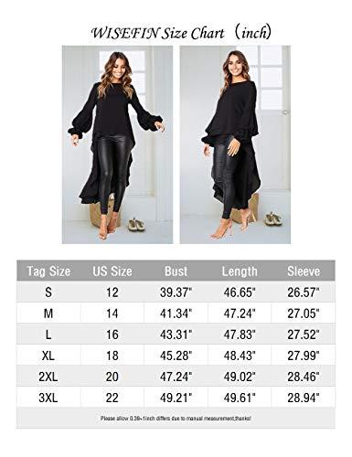 Women Asymmetric Lace Hem Long Tail Tops Blouse Ladies Hollow Party Shirt Dress
