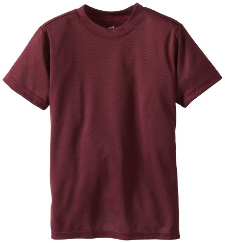 Soffe Big Boys' Dri Tee, Maroon, Small