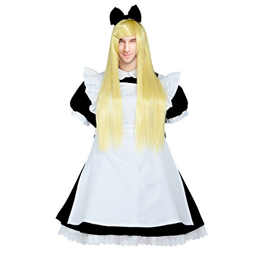 Party Chili Japanese Maid Dress Lolita Cosplay Costume For Men Plus Size With Wig