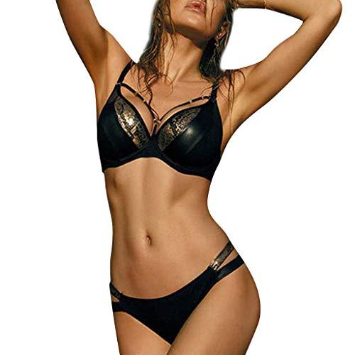 (Bikini Set for Women Snake Print Triangle Brazilian Swimsuit Sexy Thong Two Piece Bathing Suit)
