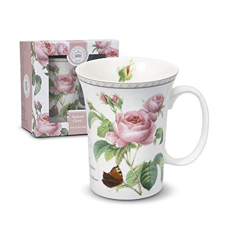 Royal Botanic Gardens Kew Redoute Classic Porcelain Mug with Gift Box, 12-Ounce (Botanic Roses)