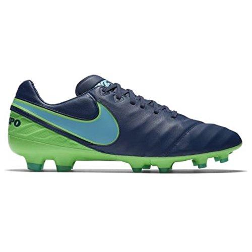 NIKE Tiempo Legacy II FG Mens Football Boots 819218 Soccer Cleats (US 9, Coastal Blue - Cleats Messi F50