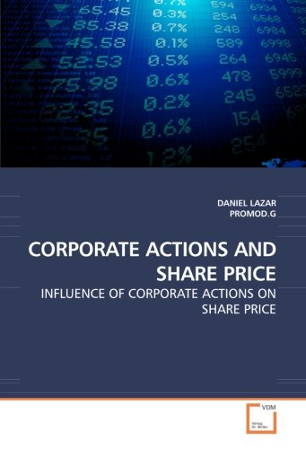 CORPORATE ACTIONS AND SHARE PRICE: INFLUENCE OF CORPORATE for sale  Delivered anywhere in Canada