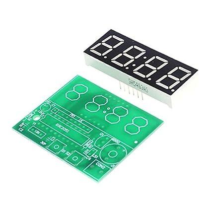 High Five Store DIY Parts Home Tools 4 Digital Electronic Clock
