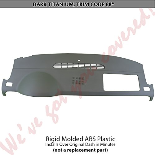 07-14 Chevrolet/GMC SUV Dash Cover (with center speaker holes) Dark (Abs Plastic Dash Cover)