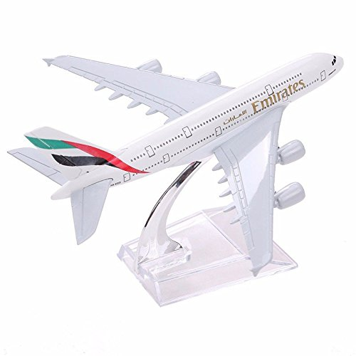 Frontier Brand New Airbus380 Emirates Airlines A-380 Flugzeuge Aeroplan 16cm Diecast Model