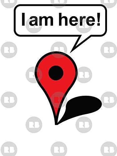 Amazon com: LA STICKERS I Am Here! Google Maps - Sticker