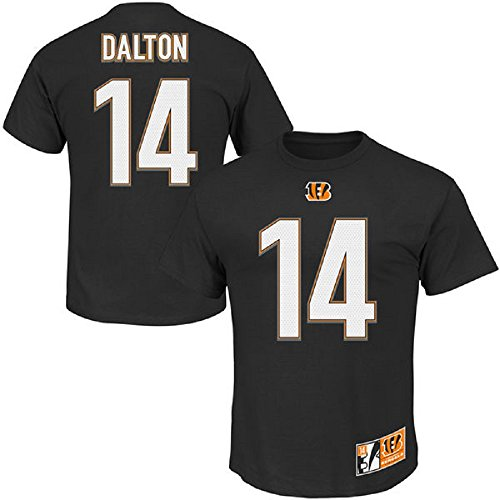 Andy Dalton #14 Cincinnati Bengals NFL Men's Eligible Receiver II T-shirt Black (Xlarge) (Bengals Nfl Uniform)