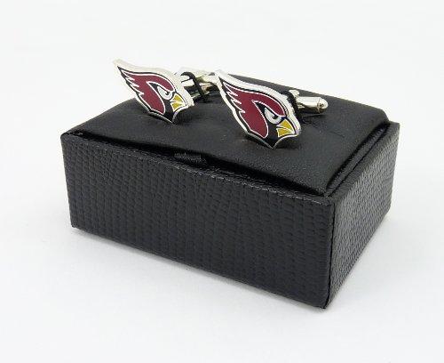 NFL Arizona Cardinals Cut Out Logo Cuff Link, Silver