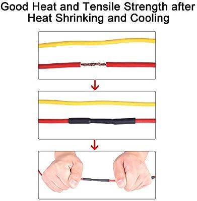 Insulation Sealing Oil-Proof Wear-Resistant XHF 140 PCS 3//32 1//8 3//16 1//4 5//16 3//8 Black/&Red 3:1 Waterproof Heat Shrink Tubing Kit Marine Grade Adhesive Lined Heat Shrink