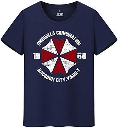 バイオハザード Resident Evil Umbrella Corp 傘 メンズ/レディース Tシャツ 夏服 半袖 シャツ