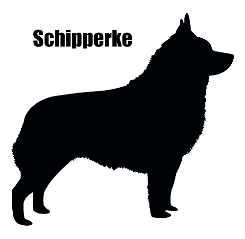 "Schipperke 2 pcs 3-1/2"" Black Dog Fused Glass Decals"