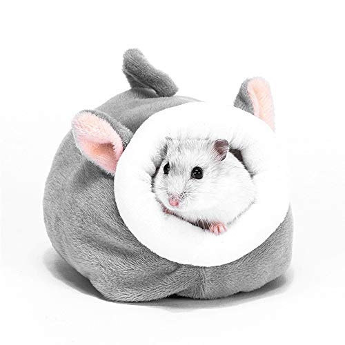 FLAdorepet Hamster Bed Houses and Hideouts Small Animal Pet Cave Bed Cage Nest Accessories (S(5.13.93.9inch), Elephant)