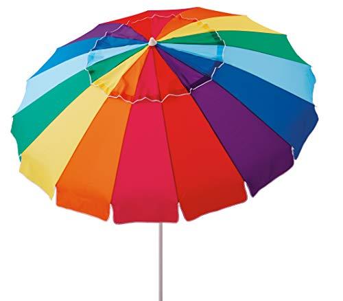 Mainstays 8 Ft Rainbow Beach Umbrella