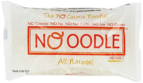 NOoodle No Carb Pasta, Noodle Alternative, Zero Calories, Gluten Free, Keto Friendly, Best Tasting Shirataki Noodles (Angel Hair, 6-pack)