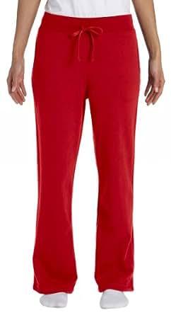 Gildan Activewear 7.75 oz. Heavy Blend 50/50 Open-Bottom Sweatpants, S, Red