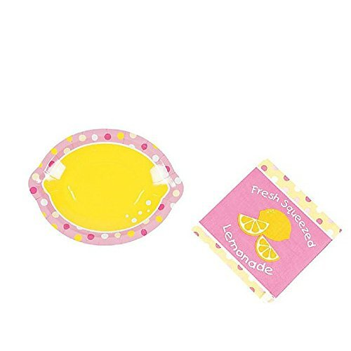Lemonade Party Birthday Dessert Plates & Beverage Napkins Party Kit for 8
