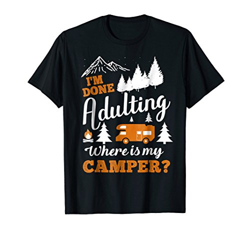 ere Is My Camper Shirt Cool Camping Gift ()