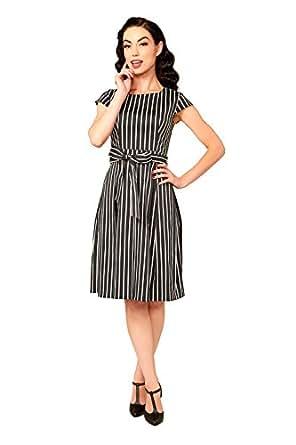 Golightly Mae Dress in Victorian Stripe (2X)
