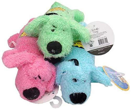 Multi Pet Loofa Dog Mini 6 in Plush Dog Toy Assorted Colors