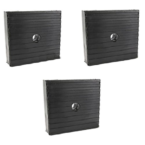 (3 Pack Anti Vibration Pads For Air Compressor Or Equipment Solid Rubber 4x4x1)