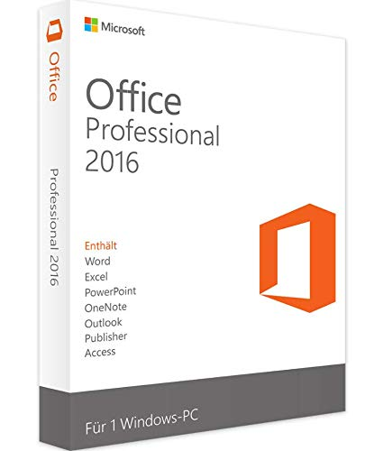 Office Professional Plus 2016 (1 User- Windows) License key- No CD