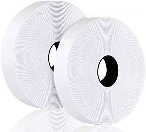 2 rol witte zelfklevende plakband met super plakkerige lijm lijm lijm haak en lus tape