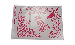 Bilipala Laser Painting Stencils, Drawing Stencil, Reusable Stencil for DIY Decor, 5 Sheets