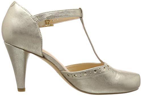 Clarks Leah Escarpins Femme champagne Dalia Leather Argenté 55qrR8