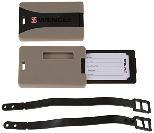 Wenger Etichetta per valigie Sicherheitsgepäckanhänger im 2er Set, WE6186GY