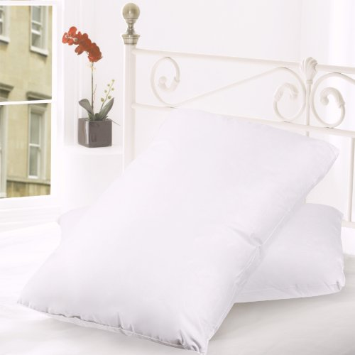 """Price comparison product image Sweet Home Collection (2-Pack) 20 by 36"""" Luxury Bed Pillow Filled with Top Quality Down and Goose Feathers, King, White"""