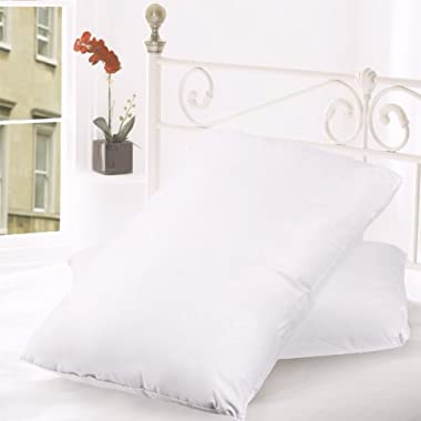 Sweet Home Collection (2-Pack) 20 by 26  Luxury Bed Pillow Filled with Top Quality Down and Goose Feathers, Standard, White