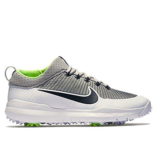 (Nike FI Premiere Golf Shoes 2016 Silver/White/Volt/Black Wide 7.5)