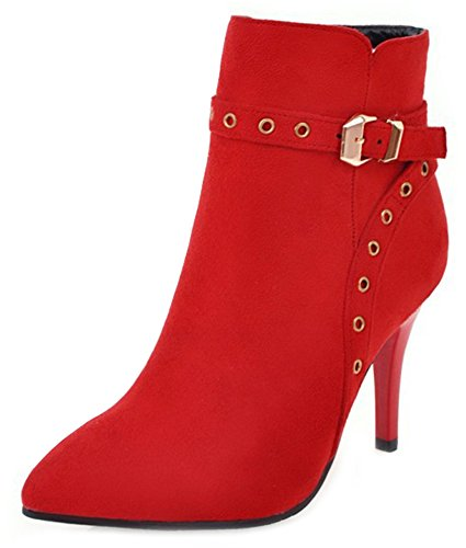 Slip Rot Mattierte Booties On Damen Spitze Aisun Ankle Bnzqx5wxaS