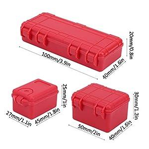 VGEBY RC Car Luggage Case, RC Car Decoration RC Car Ladder Fit for 1/10 RC Crawler