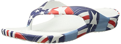Dawgs Womens Loudmouth Flip Flop Betsy Ross