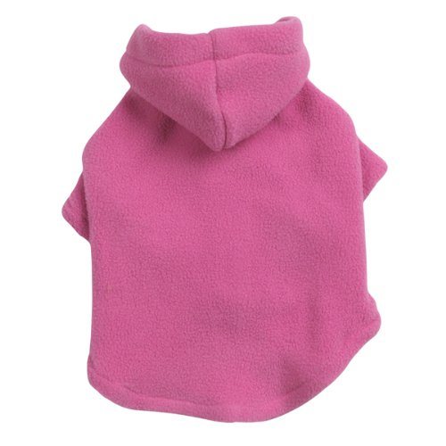 Casual Canine Polyester Basic Fleece 10-Inch Dog Hoodie, X-Small, Pink, My Pet Supplies
