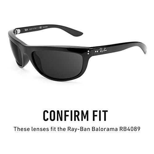 Verres de rechange pour Ray Ban Balorama RB4089 — Plusieurs options Noir - Polarisés