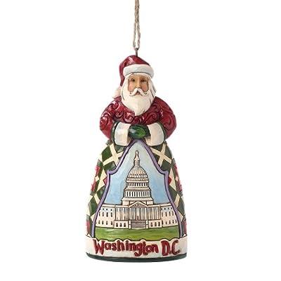 Enesco Jim Shore Heartwood Creek Washington D.C. Santa Ornament, 4.5-Inch