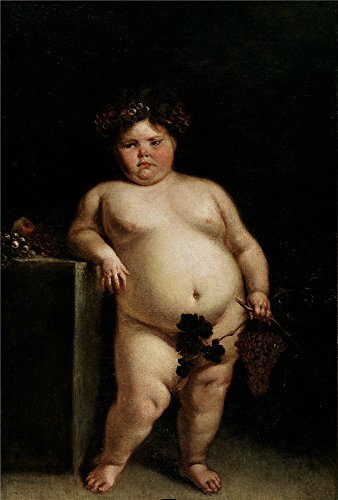 Oil Painting 'Carreno De Miranda Juan The Monster Nude Or Bacchus Ca. 1680 ' Printing On Perfect Effect Canvas , 12 X 18 Inch / 30 X 45 Cm ,the - Canvas Bacchus
