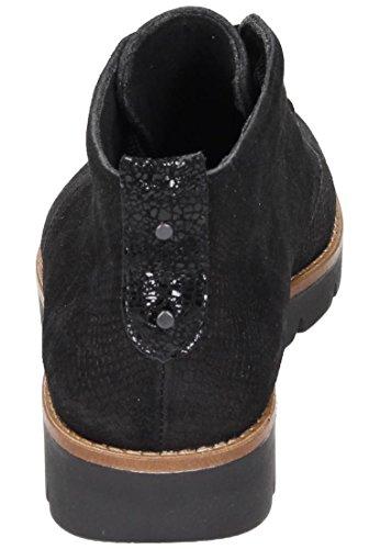 Comfortabele Dames Enkellaars - G Wit Zwart 991091-1 Zwart