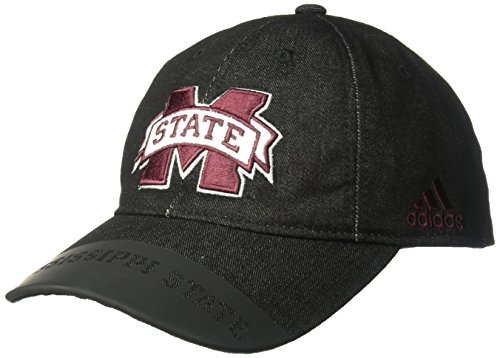 adidas NCAA Mississippi State Bulldogs Adult Men Player Heathered Slouch Hat, One Size, ()