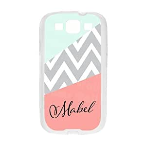 Pink Chevron Zigzag Cyan with Black Name Custom Luxury with Silicon PC Diy For Iphone 6Plus Case Cover
