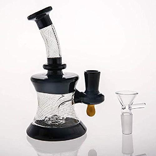 Sunlin Handmade Glass Vave Glass Bottle Black 5.9 Inch