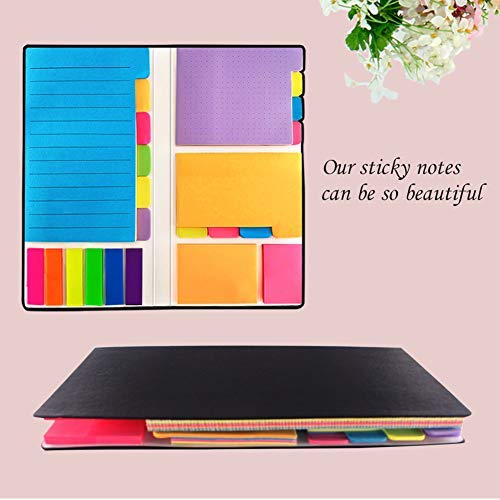 Sticky Notes - Self-Stick Notes Divider Notes 60 Ruled Lined Notes (4x6),48 Dotted Notes (3x4),48 Blank Notes(4x3),48 Orange and Pink,25 per PET Color - 402 pcs Divider Sticky Notes Photo #3