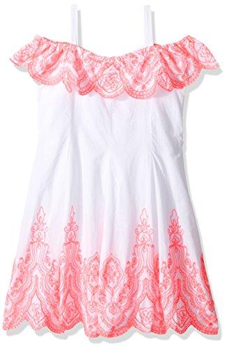 Kate Mack Little Girls' Tropical Mermaid Embroidered Dres...