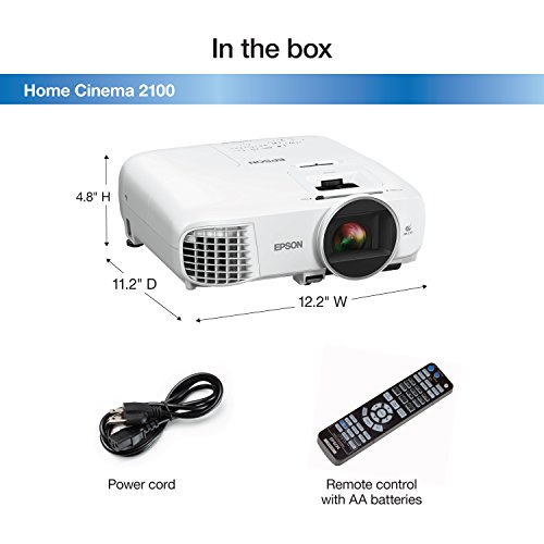 Epson EPSON HOME CINEMA 2100 V11H851 1080p 3LCD Projector White
