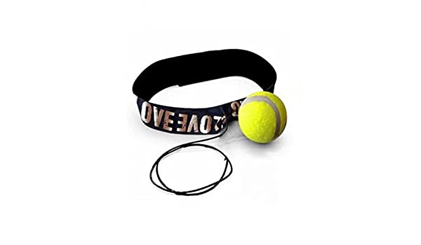 Fight Ball /& Head Band For Reflex Speed Training Boxing Punch Exercise Yellow FO